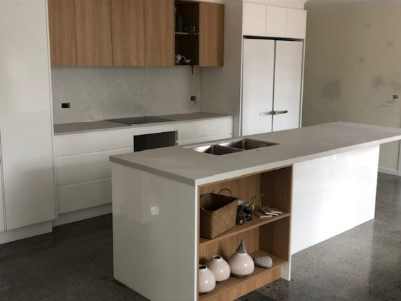 Caesarstone Airy Concrete benchtops and splash backs Byron Bay 580x435 - Home