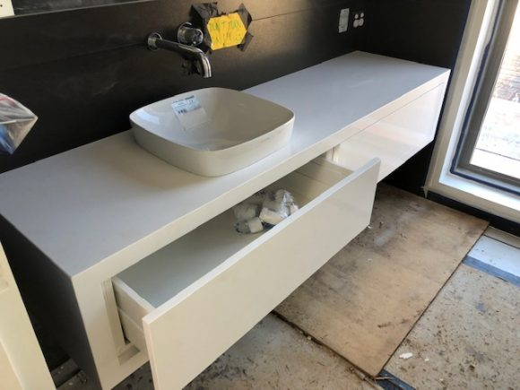 Caesarstone Pure White Vanity Top and Draw Fronts Byron Bay 580x435 - Home