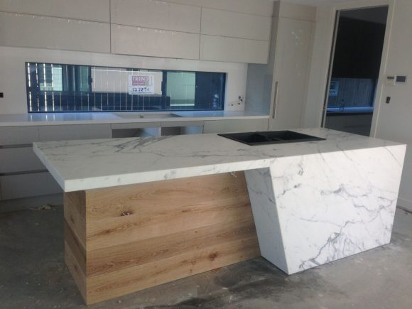 Calacutta Marble Kitchen Bench tops 2 580x435 - Kitchen