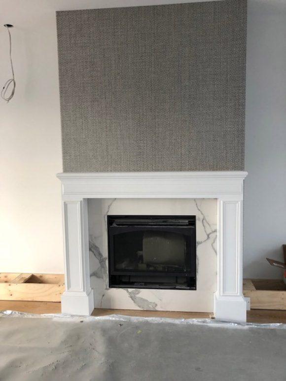 Calacutta Marble fireplace