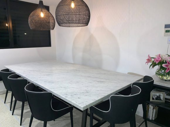 Carrara Marble Dining Table 580x435 - Home