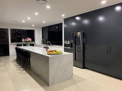 Carrara Marble kitchen benchtop
